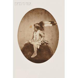 Joel Emmons Whitney (American, 1822-1886)      Ma-za-oo-nie (The Little Bird Hunter)