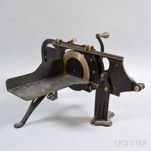 "N.R. Streeter & Co. Stenciled Cast Iron ""Bread and Beef Slicer,"""
