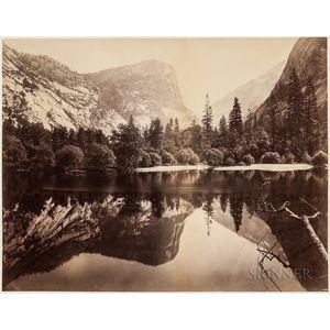Watkins, Carleton (1829-1916) Mammoth Albumen Photograph, Mirror Lake, Yosemite  , 1865-1866.