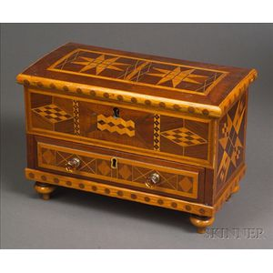 Miniature Inlaid Chest over Drawer