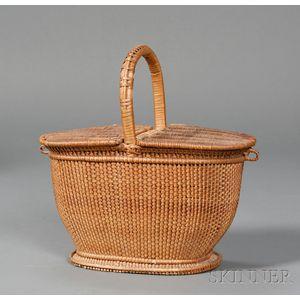 Woven Willow Hamper Basket