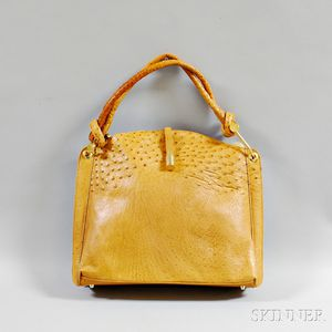 Rudolph Krell Tan Ostrich Leather Tote