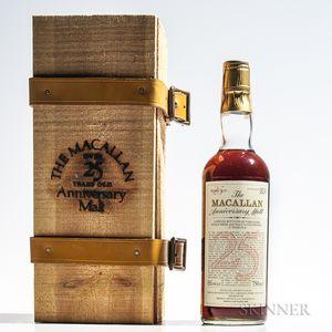 Macallan Anniversary Malt 25 Years Old 1957, 1 750ml bottle (owc)