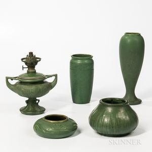 Five Hampshire Art Pottery Items