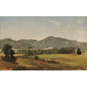 Asher Brown Durand  (American, 1796-1886)      New England Hills  /A Vermont Landscape