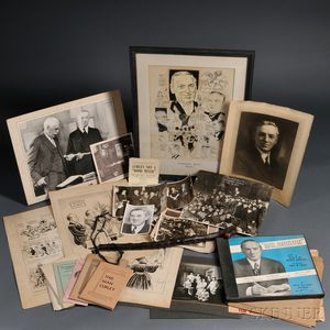 Curley, James Michael (1874-1958) Lot of Assorted Material, 20th Century.