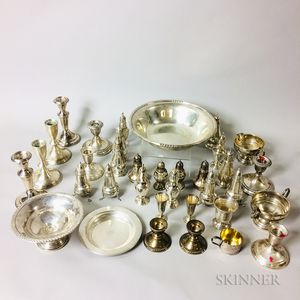 Large Group of Sterling Silver Tableware
