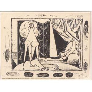 Pablo Picasso (Spanish, 1881-1973)    Les Deux Femmes Nues