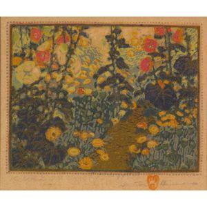 Gustave Baumann (German/American, 1881-1971)    Our Own Garden