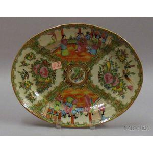 Chinese Export Porcelain Rose Medallion Platter