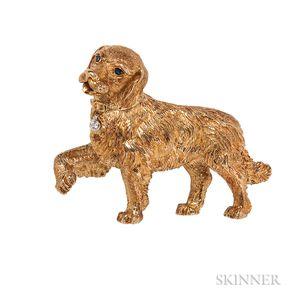 18kt Gold Golden Retriever Brooch, Tiffany & Co.