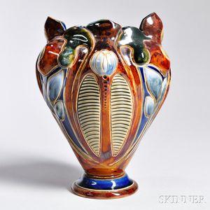 Doulton Lambeth Stoneware Vase