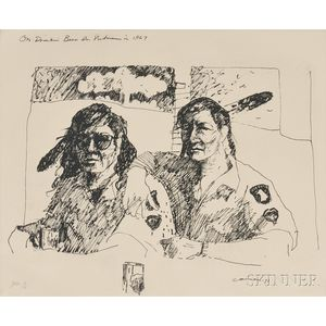 T.C. Cannon (Native American, 1946-1978)      On Drinkin