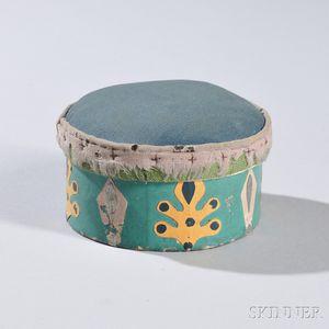 Round Pincushion Wallpaper Circular Box