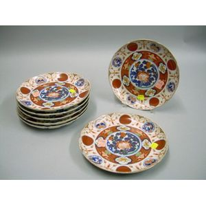 Set of Seven Japanese Imari Porcelain Plates