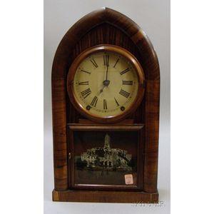 Rosewood Veneered Beehive Clock