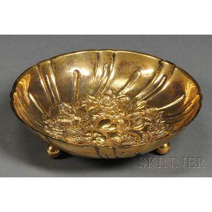 S. Kirk & Son Goldwashed Sterling Repousse Bonbon Bowl