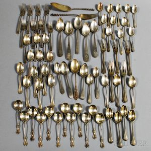 Group of English and American Sterling Silver Flatware
