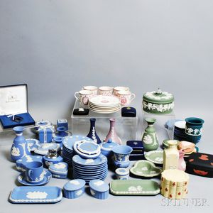 Approximately Eighty-three Wedgwood Mostly Jasper Items.     Estimate $200-400