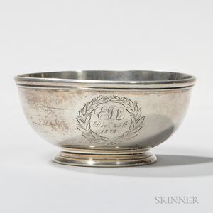 Small Lincoln & Foss Coin Silver Bowl