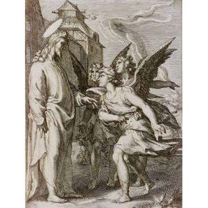 Manner of Jan Saenredam (Dutch, 1565-1607)  Christ With Angels.