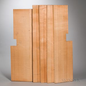One Violoncello Top and Four Spruce Billets.
