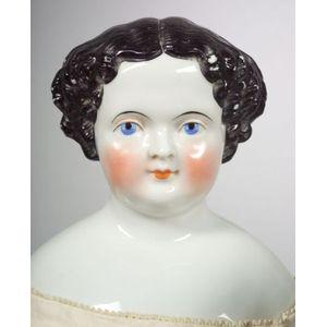 Large Center Part China Shoulder Head Doll