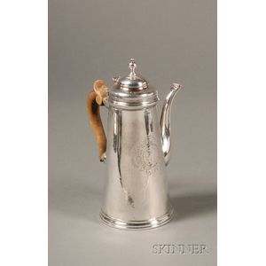 Irish George II Silver Chocolate Pot