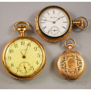 Three 14kt Gold Pocket Watches