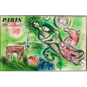 Charles Sorlier (French, 1921-1990) After Marc Chagall (Russian/French, 1887-1985) Poster: PARIS lOpéra - le plafond de Chagall (détai