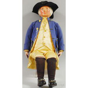 Martha Chase George Washington Cloth Doll