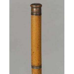 "Victorian Fruitwood ""Tippler's"" Walking Stick"