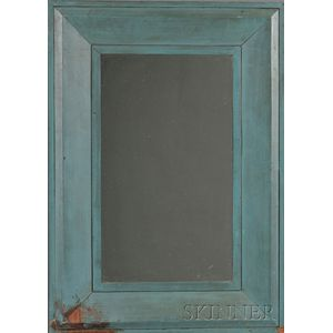 Blue-painted Mirror Frame