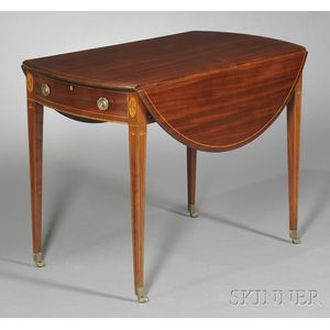 Federal Mahogany Inlaid Breakfast Table