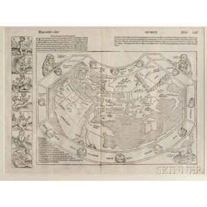 World Map. Hartmann Schedel (1440-1514) Das Ander Alter der Werlt.
