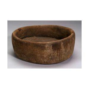 Large Carved Wooden Bowl.