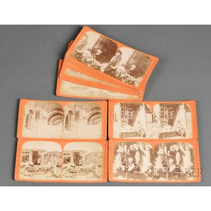 Approximately Fifty-five Stereo Views of Constantinople and the Middle East
