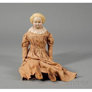 Blonde Composition Shoulder Head Doll