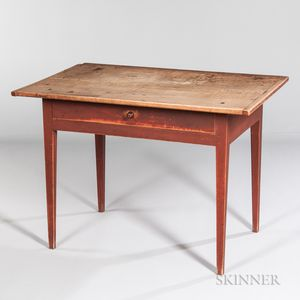 Red-painted Maple Tavern Table