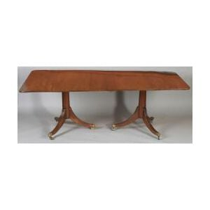 Regency-style Mahogany Two Pedestal Dining Table