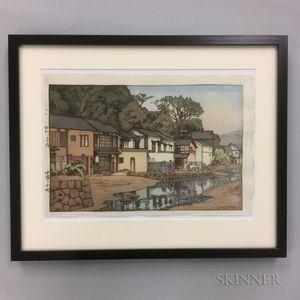 Hiroshi Yoshida (1876-1950), Small Town in Chugoku