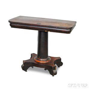 Late Classical Mahogany Veneer Card Table