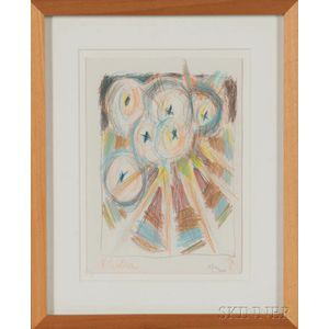 American School, 20th Century    Abstract Drawing