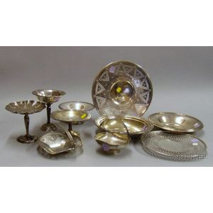 Ten Assorted Sterling Serving Pieces