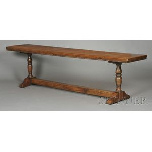 Continental Baroque-style Walnut Refectory Table