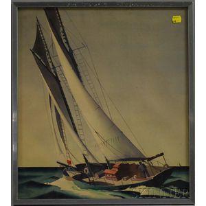 Sandor Bernath (American, 1892-1984)      Sailing Vessel