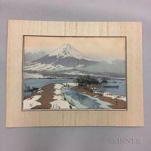 Hiroshi Yoshida (1876-1950), Fujiyma from Kanaguchi Lake