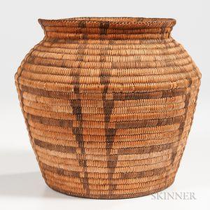 Pima Coiled Basketry Olla