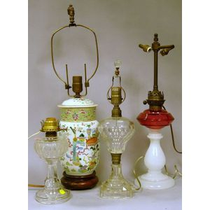 Four Assorted Table Lamps