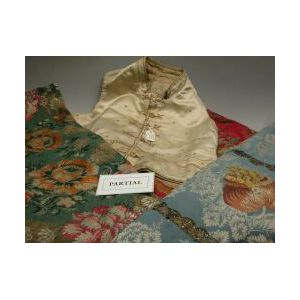 Group of European Silk Brocade Vestments and Fragments.